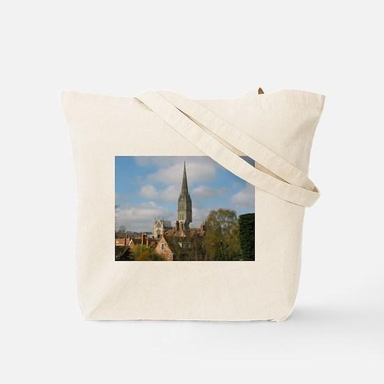 Salisbury Cathedral Nave Tote Bag