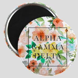 Alpha Gamma Delta Floral Magnet