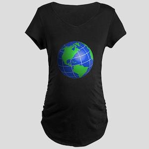 Western Hemisphere Globe Maternity T-Shirt