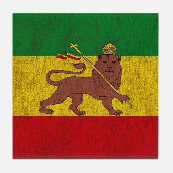 Funny Rastafarian t Tile Coaster