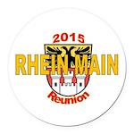 Rm Reunion Logo Round Car Magnet