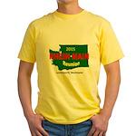 Men's Yellow T Wa Reunion Logo T-Shirt