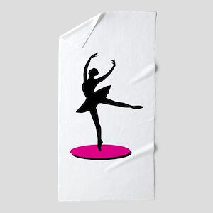 On Toe Ballerina Beach Towel