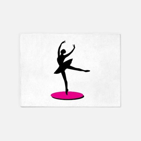 On Toe Ballerina 5'x7'Area Rug