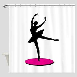 On Toe Ballerina Shower Curtain