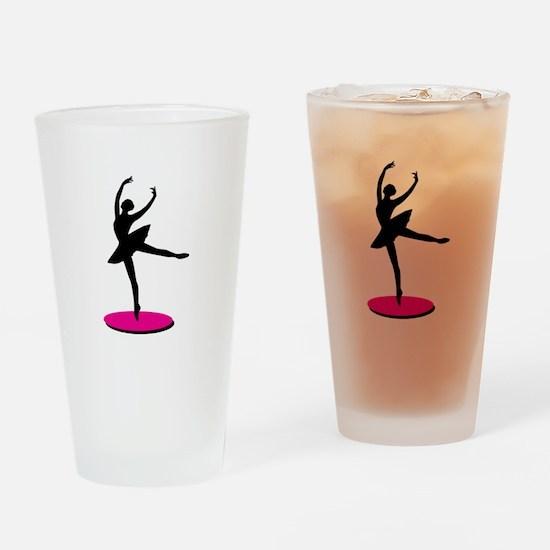 On Toe Ballerina Drinking Glass