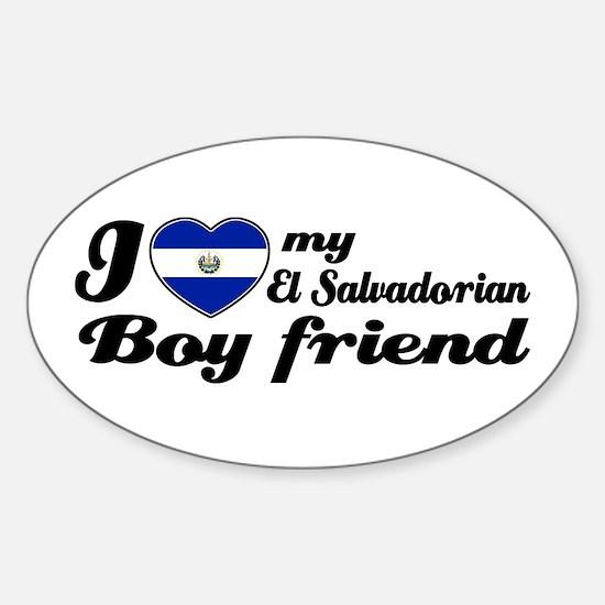 El Salvadorian Boy Friend Oval Decal