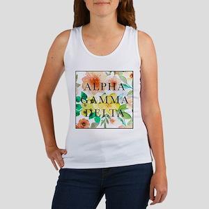Alpha Gamma Delta Floral Women's Tank Top