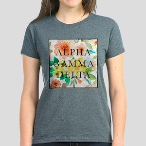 Alpha Gamma Delta Floral Women's Dark T-Shirt