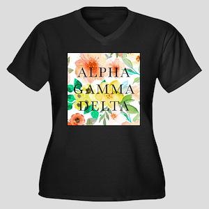 Alpha Gamma Women's Plus Size V-Neck Dark T-Shirt