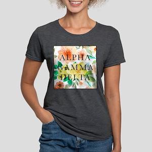 Alpha Gamma Delta Floral Womens Tri-blend T-Shirt