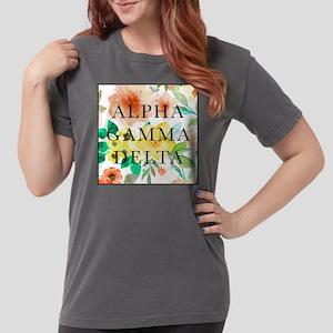 Alpha Gamma Delta Flor Womens Comfort Colors Shirt