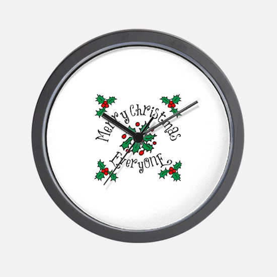 Merry Christmas Everyone Wall Clock