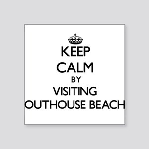 Keep calm by visiting Outhouse Beach Guam Sticker