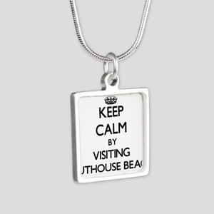 Keep calm by visiting Outhouse Beach Guam Necklace