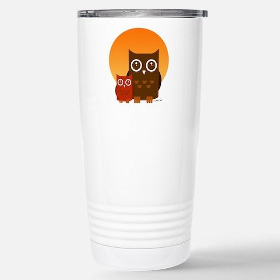 Cute Owls (5) Stainless Steel Travel Mug