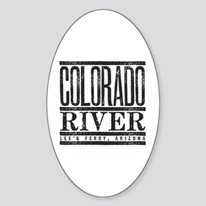 River Running Oval Sticker