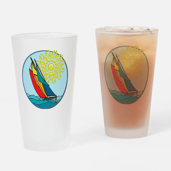 Cool Sailboat Drinking Glass