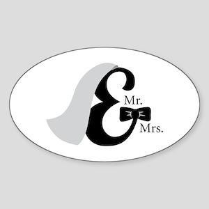 Mr & Mrs Ampersand Sticker