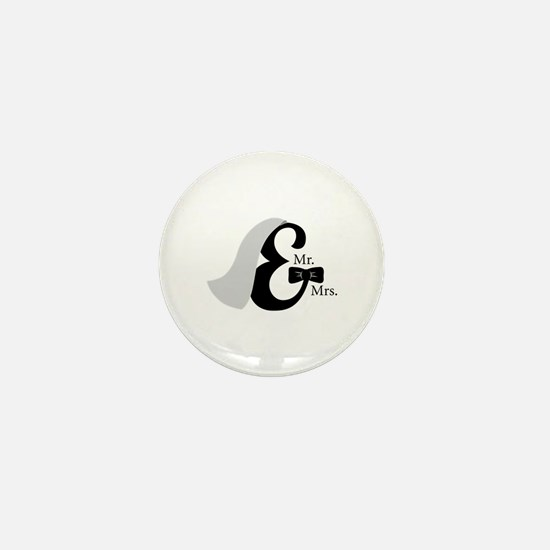 Mr & Mrs Ampersand Mini Button (10 pack)