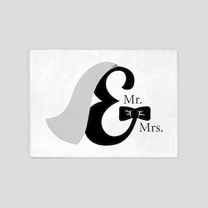 Mr & Mrs Ampersand 5'x7'Area Rug