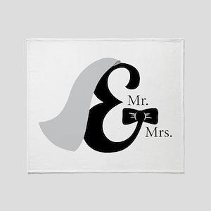 Mr & Mrs Ampersand Throw Blanket
