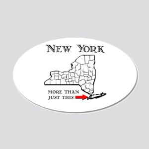 NY More Than Just This 22x14 Oval Wall Peel