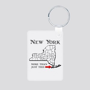 NY More Than Just This Aluminum Photo Keychain