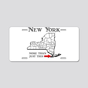 NY More Than Just This Aluminum License Plate