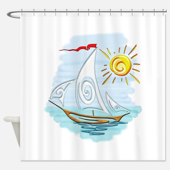 Cute Nautical Shower Curtain