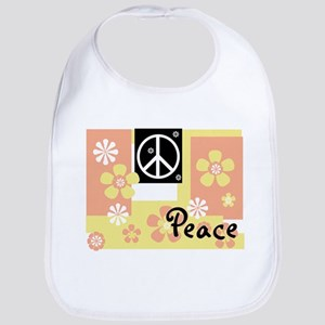 Pastel Colors Peace Bib