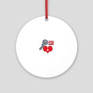 Unlock My True Love Ornament (Round)