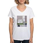 Lights Camera Unemployment Women's V-Neck T-Shirt