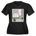 Lights Camer Women's Plus Size V-Neck Dark T-Shirt