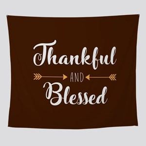 Thankful and Blessed Wall Tapestry