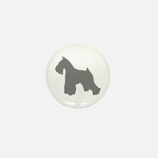 schnauzer gray 2 Mini Button