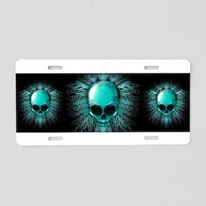 Ghost Skull Aluminum License Plate