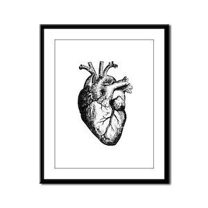 HEART Framed Panel Print