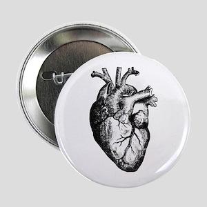"""HEART 2.25"""" Button"""