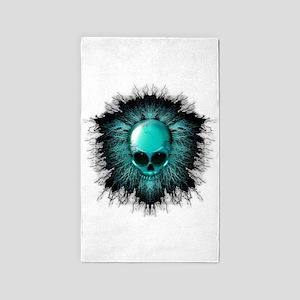 Ghost Skull 3'x5' Area Rug