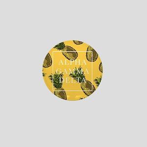 Alpha Gamma Delta Pineapples Mini Button
