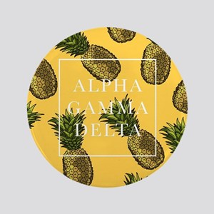 "Alpha Gamma Delta Pineapples 3.5"" Button"
