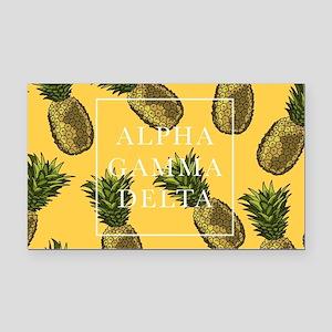 Alpha Gamma Delta Pineapples Rectangle Car Magnet