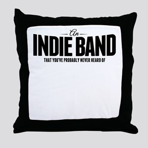 An Indie Band Throw Pillow