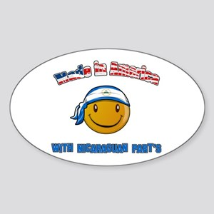 Made in America Nicaraguan pa Oval Sticker