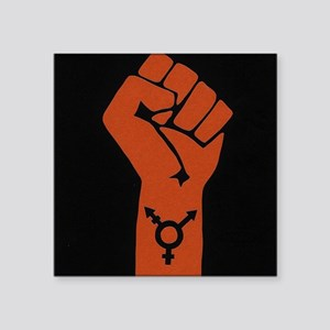 "Transgender Solidarity Square Sticker 3"" x 3"""