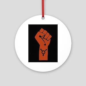 Transgender Solidarity Round Ornament