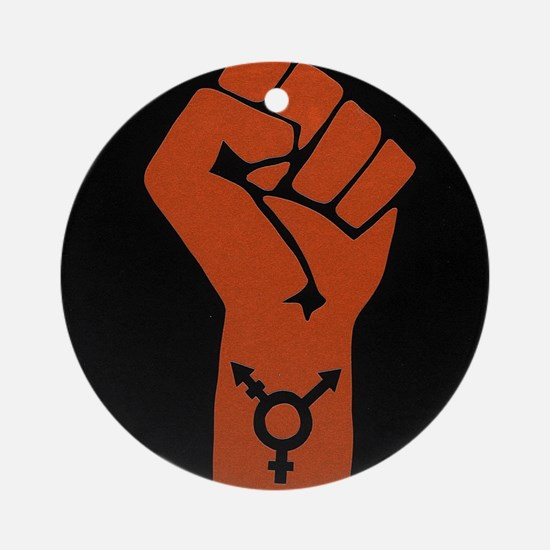 Transgender Solidarity Round Ornament
