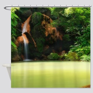 Thermal pool Shower Curtain