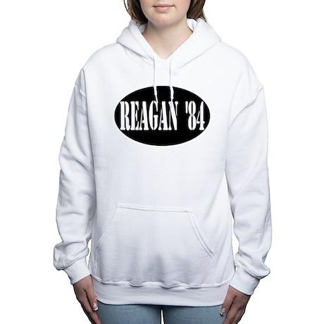 Reagan '84 Stencil Women's Hooded Sweatshirt